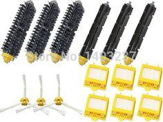 Hepa Filters Bristle Brush Flexible Beater Brush 3-Armed Side Brush Mega Kit for iRobot Roomba 700 Series 760 770 780 790