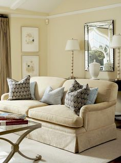 Beautiful Chic Living Room by Massucco Warner Miller • Residential • Presidio Heights Residence