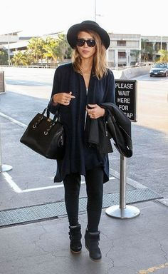 Jessica Alba wearing Westward Leaning Love Thy Neighbor Sunglasses, Isabel Marant Bekket High Top Suede Sneakers, Jennifer Meyer Personalized Nameplate Necklace and Jennifer Meyer Gold Diamond Curved Stick Necklace.