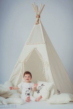Tipi with poles: 5 pole kids children indoor outdoor by Minicamplt