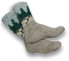 Pine Tree Socks #knitting pattern