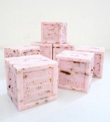 French soap with rose petals