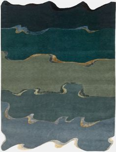 'Drift' bespoke hand-knotted rug by Deirdre Dyson.  Reminiscent of the sea on a sunny day.