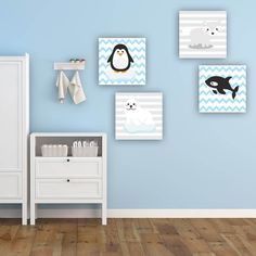 Παιδικοί πίνακες σε καμβά ζωακια της αρκτικής Gallery Wall, Home Decor, Decoration Home, Room Decor, Interior Design, Home Interiors, Interior Decorating