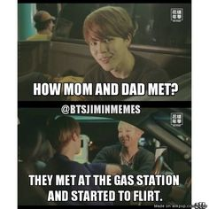 Jimin telling ARMY the story of how eomma and appa met xD   allkpop Meme Center