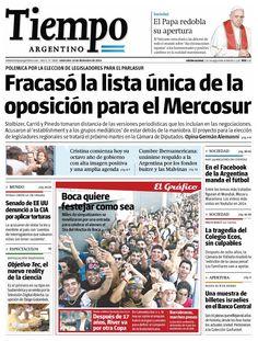 10 de diciembre. Tiempo Argentino. Mirada negativa para la oposición