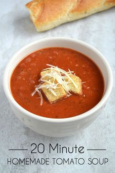 Quick & Easy Homemade Tomato Soup