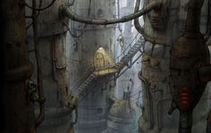 Some great concept art from Machinarium. machinarium_mezilevel.jpg (1250×790)