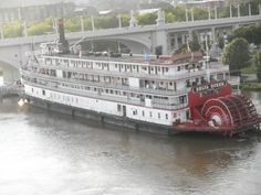 Another view of the Delta Queen on the North Shore, which had to be evacuated.