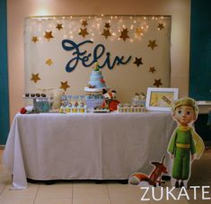 FIESTA DEL PRINCIPITO PARA FELIX Prince Party Theme, Prince Birthday Party, Boys 1st Birthday Party Ideas, 1st Boy Birthday, Birthday Decorations, The Little Prince Theme, Little Prince Party, Christening Themes, Baby Boy Christening