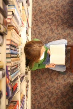 Reading in the school library.  -----  (Photo by Rikki T.)