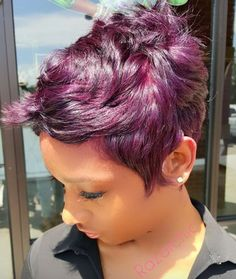 Pretty purple @razorchicofatlanta - Black Hair Information Community