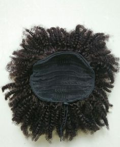 Afro Kinky Curly Ponytail Human Hair Extension Drawstring Pony Tail Clip In Brazilian Virgin Hair 3