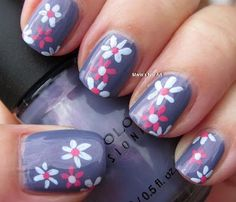 Marias Nail Art and Polish Blog: Flowers for Zeus - easy mani
