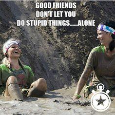 mud run, friends, running
