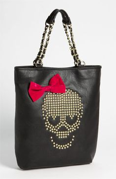 Betsey Johnson 'Skull Stud' Tote available at #Nordstrom