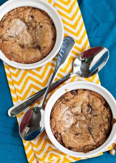 Deep Dish Chocolate Chip Cookie Sundaes | Neighborfoodblog.com