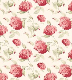 Hydrangea Cranberry from the Laura Ashley wallpaper collection.