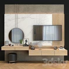 Bedroom Tv Wall, Master Bedroom Interior, Bedroom Furniture Design, Wall Tv, Ikea Bedroom, Bedroom Modern, Diy Bedroom Decor For Girls, Home Decor Bedroom, Home Room Design