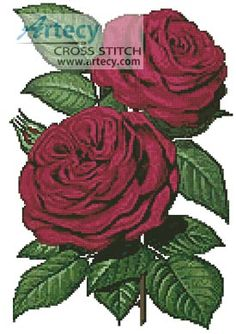 d27b5394a9b This counted cross stitch pattern of Roses was created from an antique print  by William Paul. Artecy Cross Stitch