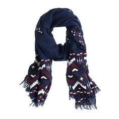 Geo zigzag scarf : scarves | J.Crew