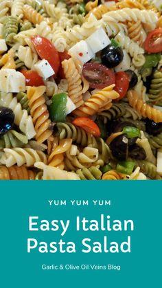 Easy Pasta Salad Recipe, Best Pasta Salad, Summer Pasta Salad, Easy Salad Recipes, Summer Salads, Lunch Recipes, Appetizer Recipes, Healthy Recipes, Dinner Recipes