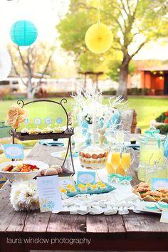 pretty pretty! #blue #yellow #food