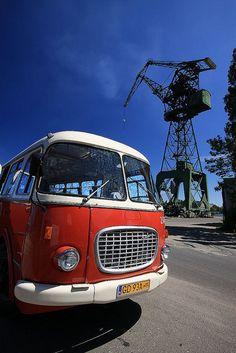 #Gdansk Shipyard tour / Gdańsk, wycieczka po Stoczni Gdańskiej Oh een bus uit mijn jeugd !