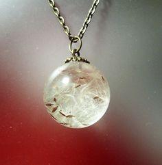 Real Dandelion Seed Resin Globe Orb Wish by GardenGemsJewelry, $21.00