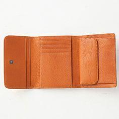 ヌメシュリンク革三つ折り財布 ブラウン | 無印良品ネットストア