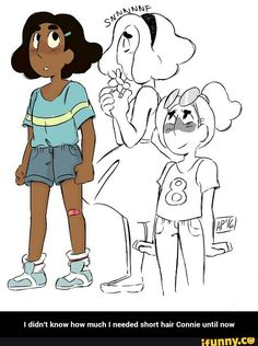 I didn't know how much I needed short hair Connie until now