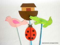 Noah's Ark Party - Table Centerpiece Sticks by paperminties   https://www.facebook.com/Paperminties http://paperminties.blogspot.com/