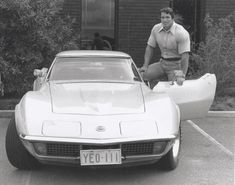 Arnold Schwarzenegger and his early C3 Corvette