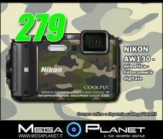 La Nikon Coolpix AW130 è una compatta perfetta per ogni situazione. Questa fotocamera per outdoor è impermeabile fino a 30 metri di profondità, resiste alle cadute da 2 metri di altezza e può essere portata dappertutto.  clicca qui:http://www.megaplanet.it/fotocamera-waterproof/44448-nikon-aw130-mimetica-fotocamera-digitale-018208943913.html