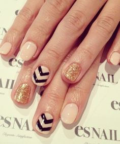 I did something similar but just sparkle on my ring fingers with solid color on the others.