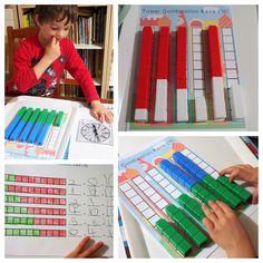 Unifix Cubes Print Play Combinations of 5 10 Freebie « United Teaching Math Classroom, Kindergarten Math, Teaching Math, Go Math, Math For Kids, Math Stations, Math Centers, Number Combinations, Math Coach
