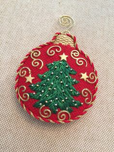 Christmas Tree Ornament ~ Canvas by Amanda Lawford
