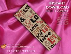 Peyote Pattern Bracelet Cuff Beading Miyuki Delica Size 11 Beads - PDF Download - Love Jumble