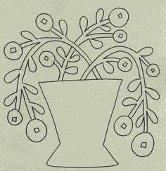 Wool Garden BOM - Rose Hip Pattern WB-512
