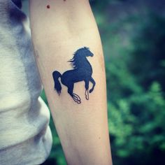 Adorable little horse tattoo.                              …