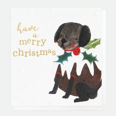 Caroline Gardner Painted Dog Pudding Christmas Cards Pack of 8 - Beaumonde Christmas Card Packs, Merry Christmas, Caroline Gardner, Scandinavian Christmas Decorations, Christmas Pudding, Recycled Bottles, Happy New, Charity, Greeting Cards