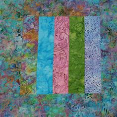 Table Topper Quilt in Multicolored Batik measures approximately 17 square.  ***Please see measurements to make sure that they suit your needs***