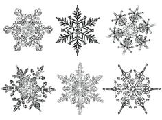 Hand Drawn Snowflakes Clipart