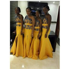 Nigeria Style Bridesmaid Dresses One Shoulder Sleeveless Mermaid Floor Length Lace With Belt Slit Satin Bridesmaid Dress Nigeria Style Bridesmaid Dresses One Shoulder Sleeveless Mermaid Floor Length Lace With Belt Slit Satin Bridesmaid Dress African Dresses For Women, African Print Dresses, African Print Fashion, Africa Fashion, African Attire, African Wear, African Women, African Prints, African Style