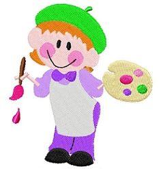 I'm A Cute Lil Artist - 4x4   back-to-school   Machine Embroidery Designs   SWAKembroidery.com Tyme 2 Stitch