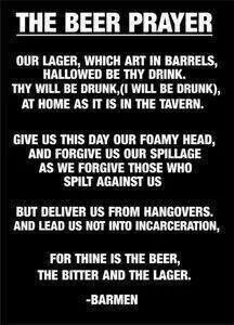 Beer prayer.