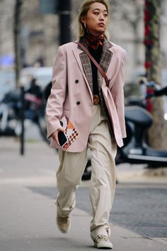 Street style during Paris Fashion Week on Saturday, March 3rd in Paris, France. Photo by Adam Katz Sinding for W Magazine.