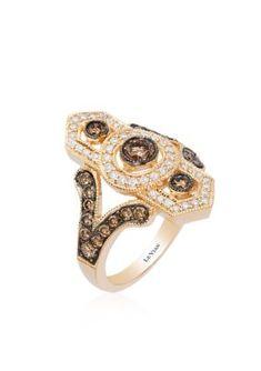 Le Vian  Chocolate Diamonds174 and Vanilla Diamonds174 Ring in 14K Honey Gold8482