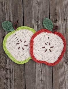 Apple a Day Dishcloth