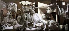 Reconstrucción de pequeño Guernica. Jose Luis Lopez Galvan